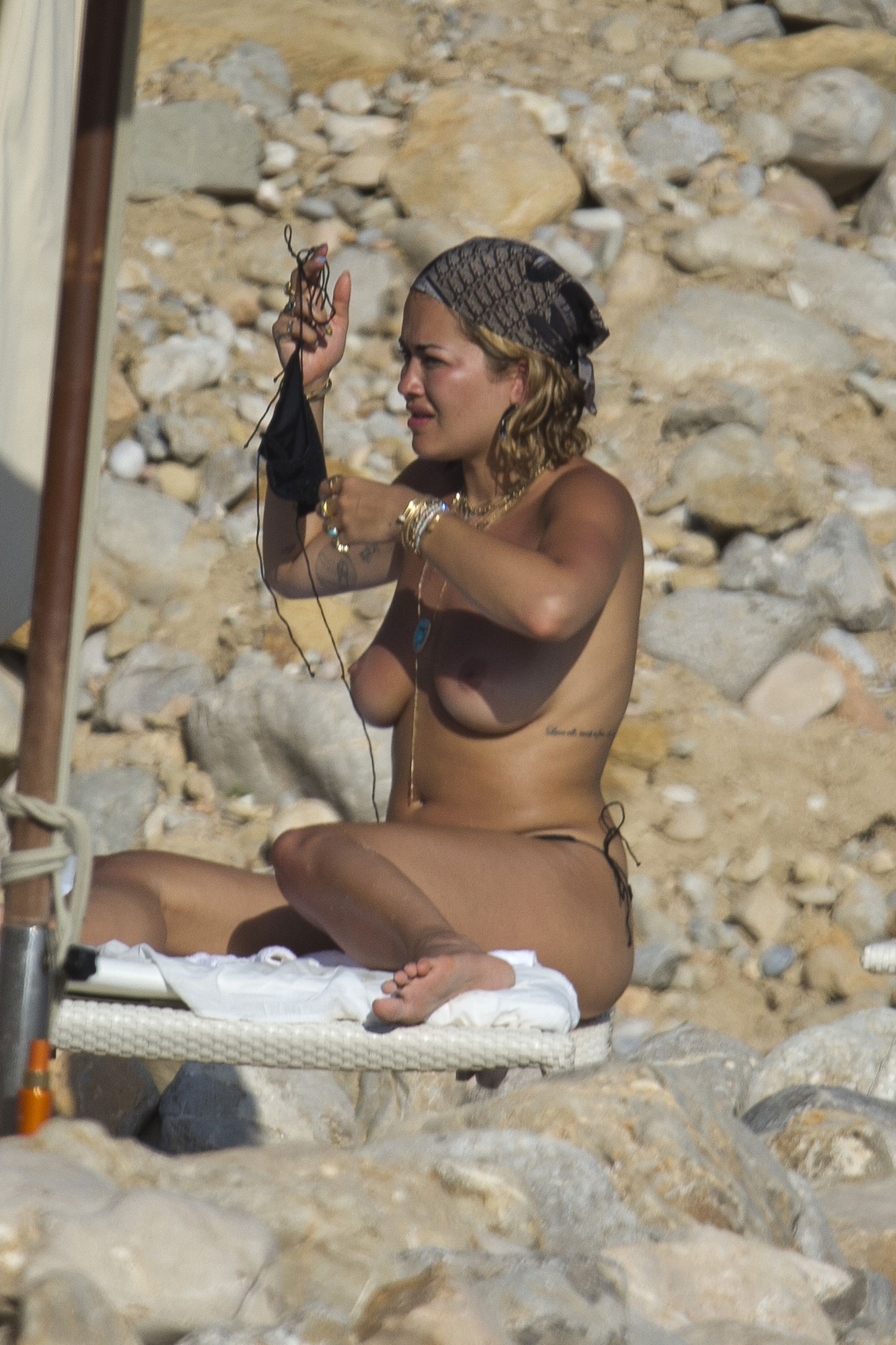 Rita Ora – Topless – On Holiday In Ibiza – 1st August 2020